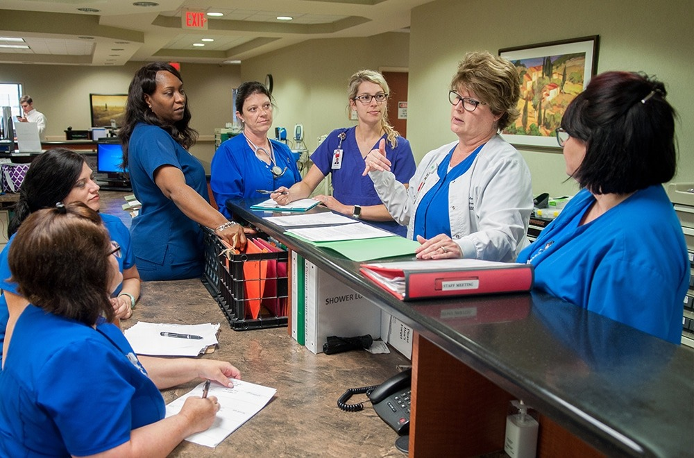 Nurses at The NeuroMedical Center Meeting as a Group