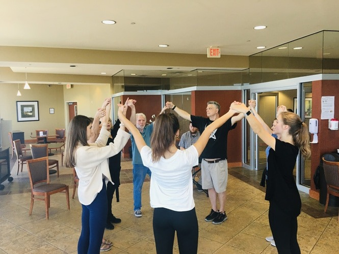 Patients participating in Dance for PD classes at The NeuroMedical Center